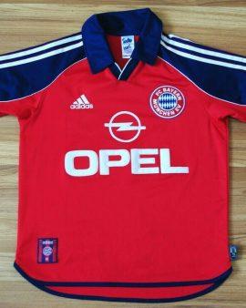 Bayern Munich Home Football Shirt 1999-2000-2001 – Véritable taille XS