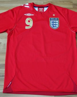 England Équipe Nationale 2006 2007 2008 away #9 ROONEY – Taille M