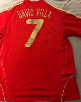 Maillot Espagne floqué David Villa