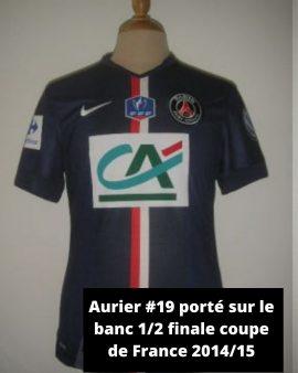 2014/15 – PSG #19 Aurier porté sur le banc en 1/2 finale de coupe de France