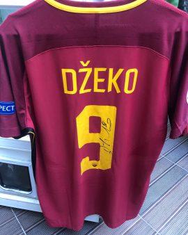 Maillot signé par DZEKO – AS ROMA