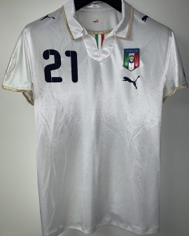 Pirlo #21 worn during France-Italy (Euro 2008)