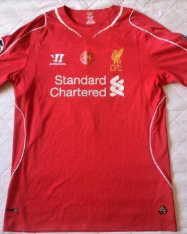 Authentic jersey Gerrard Liverpool 2014-2015 Champions League Warriors