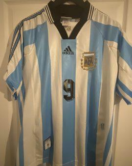 Gabriel Batistuta Official Argentina 1998 World Cup