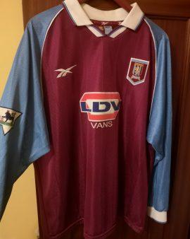 Aston Villa –  Stan Collymore match worn