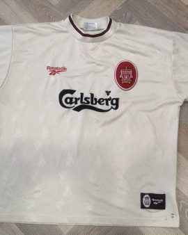 Jersey Berger #15 Liverpool FC 1996-97 Away Reebok Vintage