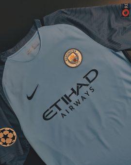 Manchester City 16/17 Home Champions League Shirt