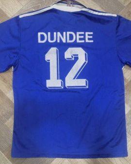 Rare Jersey Dundee #12 Karlsruhe FC 1997-98 Away Adidas Vintage