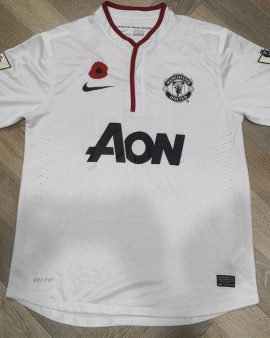 Rare Jersey Chicharito #14 Manchester United Player Issue Special Remembrance Poppy Day 2010