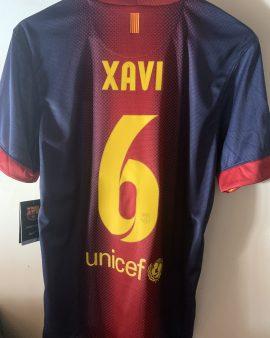 Barcelone Home 2012-2013 floqué Xavi