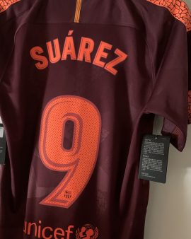Barcelone Third 2017-2018 floqué Suarez
