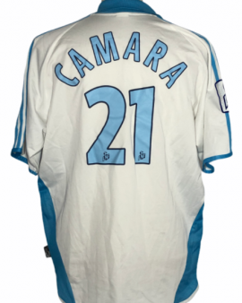 "Marseille 2001-2002 HOME Taille ""XL"" Porté #21 CAMARA"