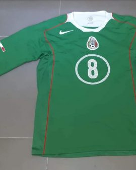 2004 MEXICO MATCH WORN HOME SHIRT long sleeves