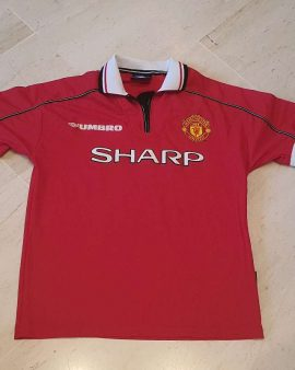 1998-00 Manchester United treble Shirt size M perfect condition
