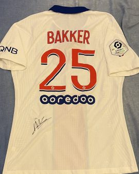 Maillot PSG Mitchel Bakker (Lille-PSG)