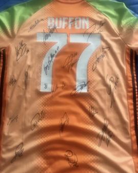 Maglia Juventus 2019/20 Palace Seria A Buffon Con Autografi EDIZIONE LIMITATA