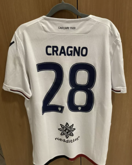 Cragno Cagliari Maglia INDOSSATA (Sampdoria-Cagliari 29/04/2018) Serie A 2018/19