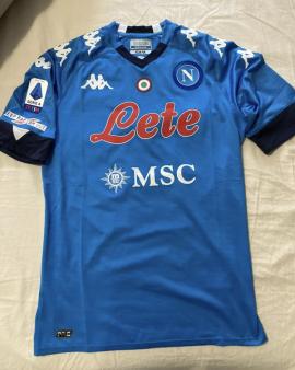 Maglia Napoli POLITANO Serie A 20/21 Patch Keep Racism Out Usata SOLO 1' Giornat