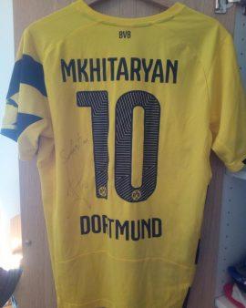 Maillot Borussia Dortmund 2014 Mkhitaryan Dédicacé