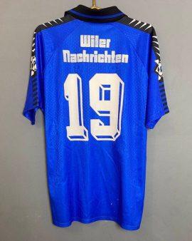 Rare Match Worn jersey FC Wil 1900 #19 season 1996/97 Reuch Vintage
