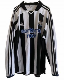 2003 2005 NEWCASTLE UNITED L/S HOME FOOTBALL SHIRT- M