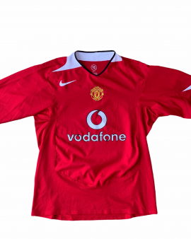 2004 05 MANCHESTER UNITED HOME FOOTBALL SHIRT (excellent) – L