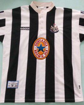 NEWCASTLE UNITED 1995/1996/1997 HOME FOOTBALL SHIRT JERSEY ADIDAS SIZE XL