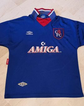 1993-94 Chelsea FC Home Shirt Size Large