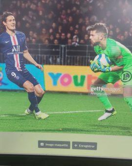 MAILLOT Stade Brestois porté Larsonneur contre PSG Bleuets de France