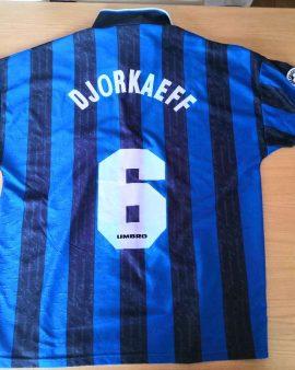Inter 1996 1997 Djorkaeff 6 (XL) number in flock