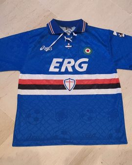 1994-95 Sampdoria Shirt (mancini #10) size M Excellent condition