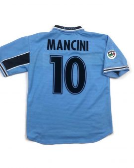 Original 1998/99 Vintage/Retro Lazio Home Football Shirt/Jersey #10 Mancini